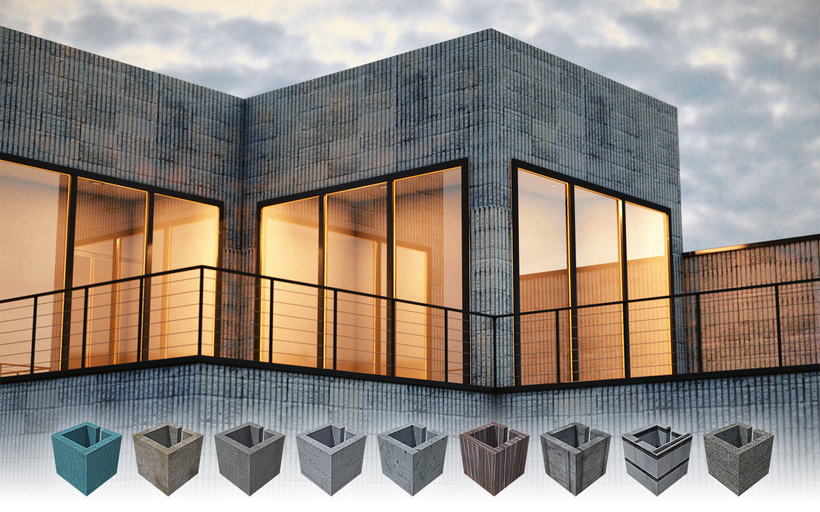 Cinema 4d concrete textures 01 free cinema 4d textures for Cinema 4d architecture