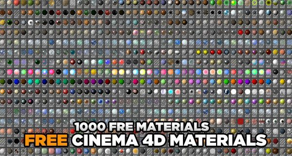 1000 Materials for Cinema 4D