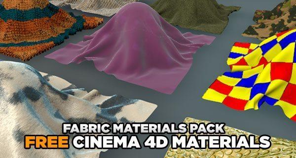 free cinema 4d fabric materials