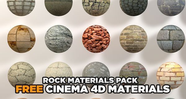 free cinema 4d rock materials