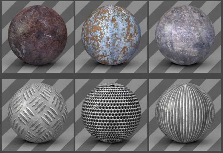 free cinema 4d textures -metal textures 05