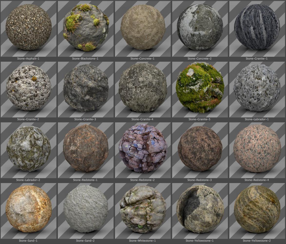 Free Cinema 4D Stone Texture Pack - Free Cinema 4D Textures