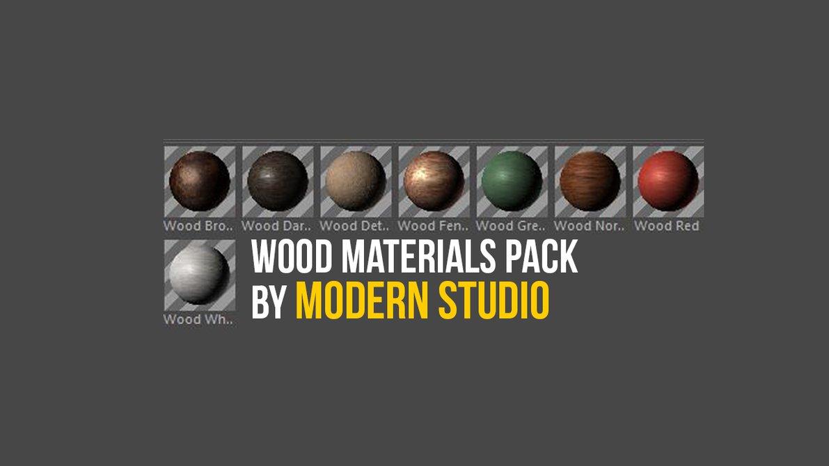 Wood Materials Cinema 4D Preset